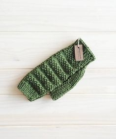 Wool dog sweater, size XS, warm sweater for chihuahua, luxury knits, forest green sweater for dog, warm and cozy.