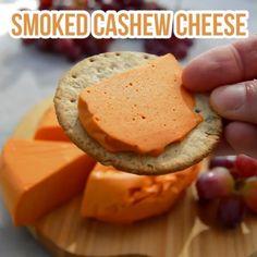 Smoked Cashew Vegan Cheese from @nestandglow  Recipe via the link in @nestandglow bio #veganvideos #vegancheese