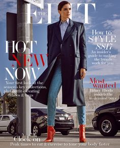 """""""The Look of Now"""" Hilary Rhoda for The Edit Magazine February 2017"""