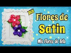 (5) Tutorial Flor de Tela para Prendedores Diademas muy facil de hacer DIY - YouTube