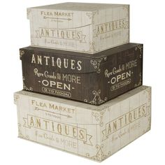 Exceptional Amazon.com   Decorative Nested Flip Top Storage Boxes Nested (Set Of 3)