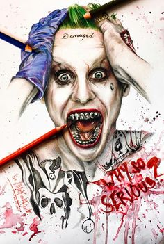 DC Comics The Joker by thefrenchberet posted on DeviantArt Jared Leto, Suicide Squad, Batman