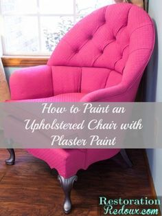 Plaster Painted Pink Chair