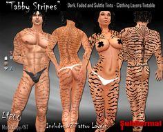 FULL BODY TABBY CAT STRIPES TATTOO