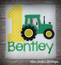 John Deere Tractor Farmer Birthday Tee for by InkieBinkieBoutique Farmer Birthday Party, Tractor Birthday, 1st Birthday Shirts, Baby Boy 1st Birthday, 6th Birthday Parties, Birthday Ideas, John Deere Party, First Birthdays, Gatlinburg Restaurants