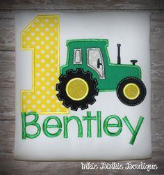 John Deere Tractor (Farmer)  Birthday Tee for Boy's and Girl's! by InkieBinkieBoutique on Etsy https://www.etsy.com/listing/192783084/john-deere-tractor-farmer-birthday-tee