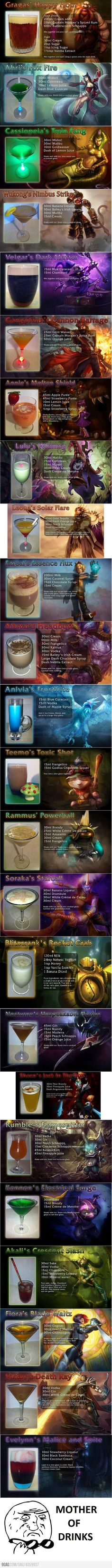 League of Legends drinks!
