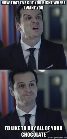Misleading Moriarty (It's like that guy in Spongebob...! So many connections between the two ;)