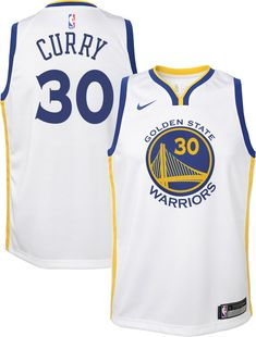 Nike Youth Golden State Warriors Stephen Curry  30 White Dri-FIT Swingman  Jersey ec14fa767
