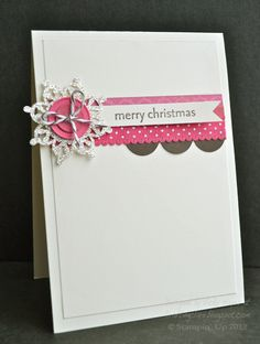 Stampin' Up ideas and supplies from Vicky at Crafting Clare's Paper Moments: Clean and simple layering