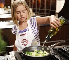 "Because Sarah is adorable and has to stand on a box to reach to the countertop. | 25 Reasons ""Masterchef Junior"" Is The Best Show On TV"