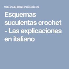 Esquemas suculentas crochet - Las explicaciones en italiano