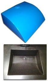 Globe Concrete Sink Mold For Casting Concrete Sinks The
