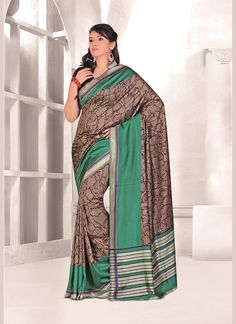 We offer wide range of party sarees collection with unique design patterns. Shop this silk multi colour casual saree.