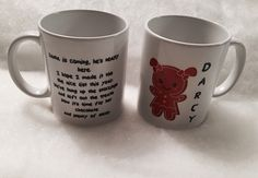 Your place to buy and sell all things handmade Personalized Christmas Mugs, Custom Mugs, Mug Designs, No Time For Me, My Etsy Shop, Heaven, Treats, Homemade, Sweet Like Candy