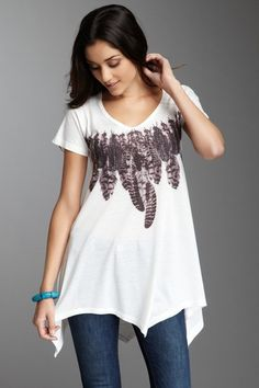 Feathers Necklace Tunic--Go Couture