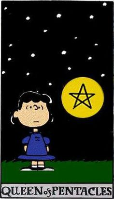 Peanuts Tarot: Queen of Pentacles