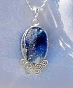 ocean waves sea glass pendant #sea glass beads & #sea charms: http://www.ecrafty.com/c-780-sea-glass-beads.aspx?pagenum=1===newarrivals=60