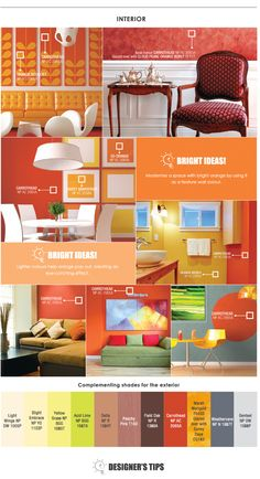 Trend Beyond Colours 2015 16 : Carrothead Nippon Paint, Wall Colors, Colours, Pop Out, Orange Color, Shades, Exterior, Bright, Yellow