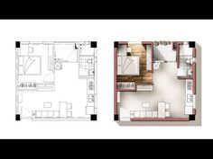 Tutorial: Liven up a floor plan in photoshop - 11min YouTube