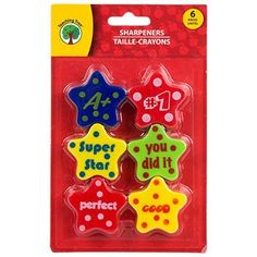 Fun plastic pencil sharpeners have praise and encouraging messages to reward students who excel. They're perfect for schools, day care, prize boxes, goodie bags, and resale. Case includes 24 – packs of Teaching Tree™ Reward Pencil Sharpeners. Prize Box, Pencil Cup, Living On A Budget, Desktop Accessories, Goodie Bags, Dollar Tree, School Supplies, Arts And Crafts, Packing