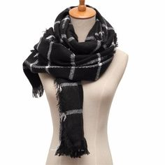 Apparel Accessories Winter Women Neckerchief Scarves Circle Lattice Cotton Girl Bufanda Vintage Long Soft Shawl Lady Wrap Scarf Shawl Blanket We Have Won Praise From Customers