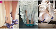 Zapatos de novia azules: ¡Ponle color a tu boda!
