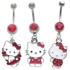 Hello Kitty Belly Button Rings