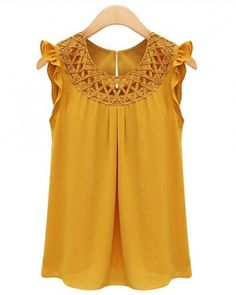 women blouses casual Shirts Sleeveless hollow out plus size blouses