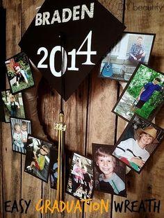 graduation photo wreath :: Graduation Party Ideas