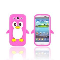 Samsung Galaxy S3 Silicone Case - Hot Pink Penguin.How can you say no to this cute lil' guy? Various colors available! $12.99