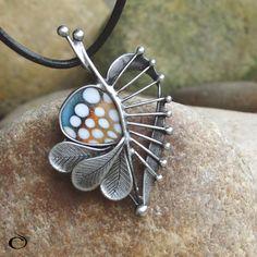list na zem spad Funky Jewelry, Metal Jewelry, Pendant Jewelry, Jewelry Sets, Handmade Jewelry, Jewelry Making, Enamel Jewelry, Sterling Silver Jewelry, Jewellery