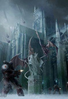 Flesh Tearers Astartes battle against a Tyranid Hive Fleet just beginning to invade