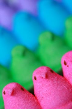 Peeps are the second best thing about Easter. Cadbury Creme Eggs are the first! Well, the origional ones that is I feel lie Cadbury has changed the recipe over the last few years. So Peeps may be moving into the lead.
