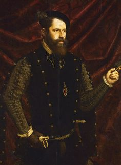 16th century portrait of a Knight of the Order of Santiago (St James the Greater)