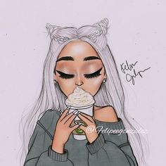 Pin on Ariana Grande cartoon Ariana Grande Linda, Ariana Grande Anime, Adriana Grande, Ariana Grande Drawings, Ariana Grande Fans, Girly Drawings, Kawaii Drawings, Cartoon Drawings, Ariana Grande Background