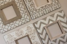 Set of 48x8 Distressed Wood Picture Frames in by deltagirlframes