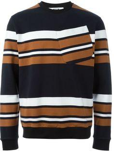 Shoppen MSGM Sweatshirt mit Streifen von Gigi Tropea aus den weltbesten Boutiquen bei farfetch.com/de. In 400 Boutiquen an einer Adresse shoppen.