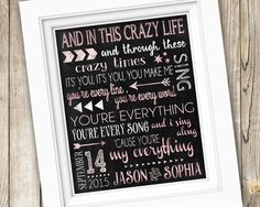 First Dance Wedding Song Lyrics Gift Printable Anniversary Or Thinking Out Loud Digital Jpeg File By Subwa