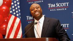 Tim Scott wins US Senate race and is 1st black to win statewide in SC since Reconstruction  -  11/4/14