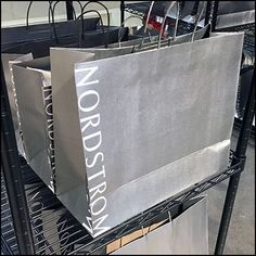 Nordstrom Order Pickup Branded Shopping Bags – Fixtures Close Up Retail Fixtures, Beauty Boutique, Wire Shelving, Super Star, Shopping Bags, All Brands, Pick Up, My Beauty, Bag Making