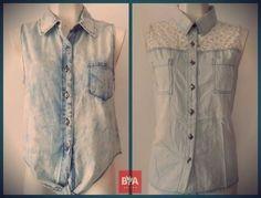 Blusas de #mezclilla  Tienen #estilo sin pasar nunca de #moda #briana