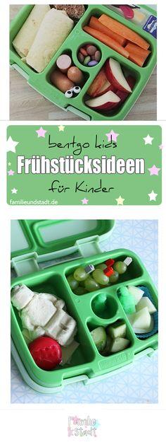 Drei bentgo kids Frühstücksideen für Kinder, LEGO Lunchbox, Bento Frühstück für die Schule