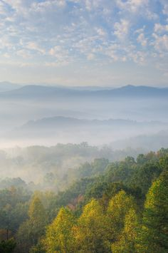 The Smoky Mountains in all of their beauty.