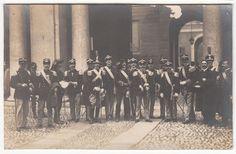 1918 WWI  MILITARI IN POSA FOT. LUSVARDI E FIGLIO MODENA -F30