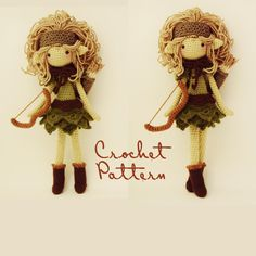 Note: This is a listing for the pattern, not the finished doll!  This pattern is for Lucia, the Huntress (Revisited). Never far from her bow, Lucia, the worlds most skilled archer, is as mysterious as her background. She was tempted from Valhalla, her Valkyrie home in New Orleans, by a deity known as Crom, and then tricked into marrying a homicidal maniac. To her despair, she threw herself from a cliff, but was saved by a beautiful goddess. She was healed and blessed with a goddess-given…