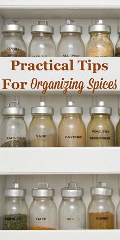 Here are practical tips for organizing spices in our kitchen so we can always find the one we need quickly and easily. #ad