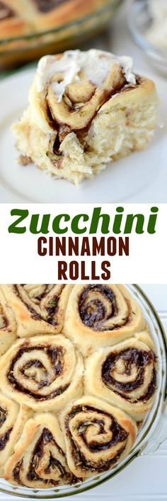 Zucchini Cinnamon Rolls - this is the BEST cinnamon roll dough filled with shredded zucchini and tons of cinnamon. Sneak in a little vegetable and I promise the kids won't even know it.
