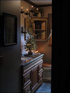 THE PRIMITIVE BATH at CHRISTMAS. - simplyprim.blogspot.com