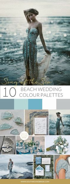 Song of the Sea Beach Wedding Palette | SouthBound Bride